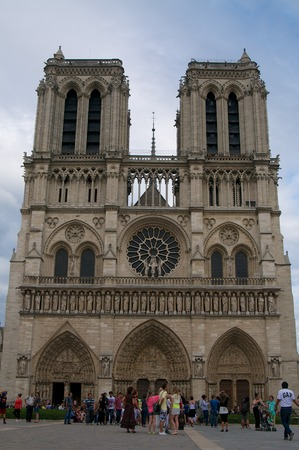 The picture of the Notre dam de Paris