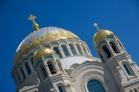 nicholas: Orthodox Naval cathedral of St. Nicholas in St.Petersburg, Russia Stock Photo
