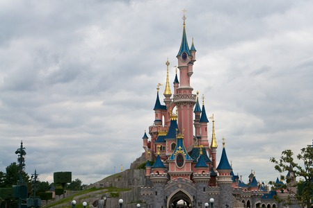 disneyland: Castle in the Disneyland, Paris