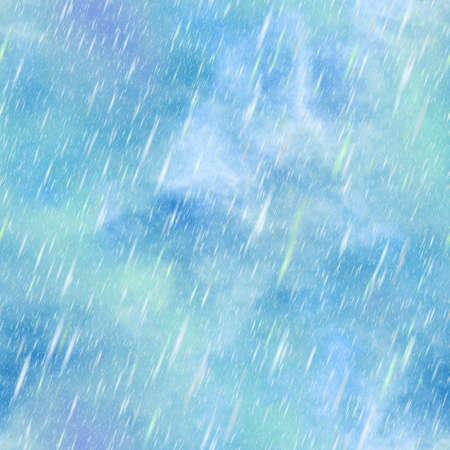 storm rain: Abstract blue rain. Texture background. Seamless illustration.