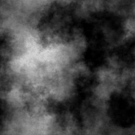Abstract white smoke on black background. Seamless illustration.