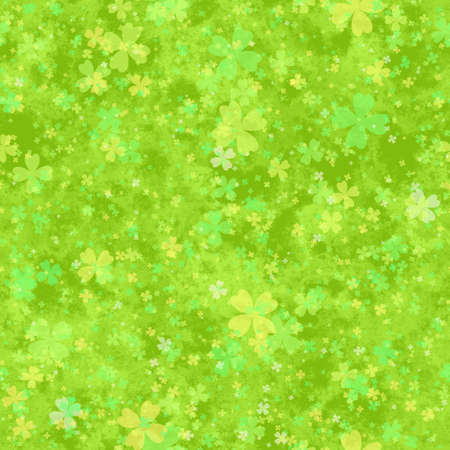 cloverleaf: Abstract green cloverleaf pattern.  Spring leafy texture background.  Seamless illustration.