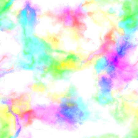 Abstract bright colorful smoke on white background.  Multicolor clouds.  Rainbow cloudy pattern. Blurry gas. Steam. Fog. Foggy color spectrum. Blurs.  Texture background. Seamless illustration. 版權商用圖片