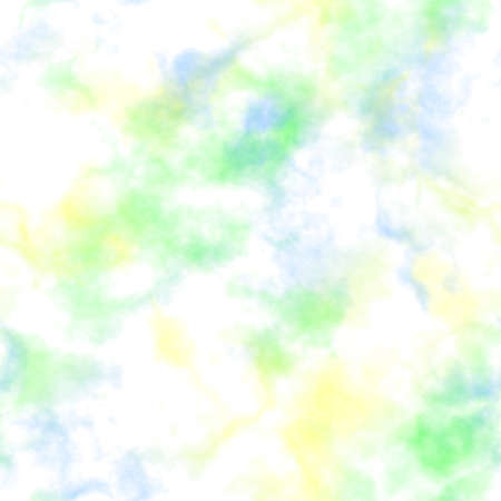 fog foggy: Abstract colorful smoke on white background.  Blue, green and yellow clouds.  Multicolor cloudy pattern. Blurry gas. Steam. Fog.  Foggy texture background. Seamless illustration.