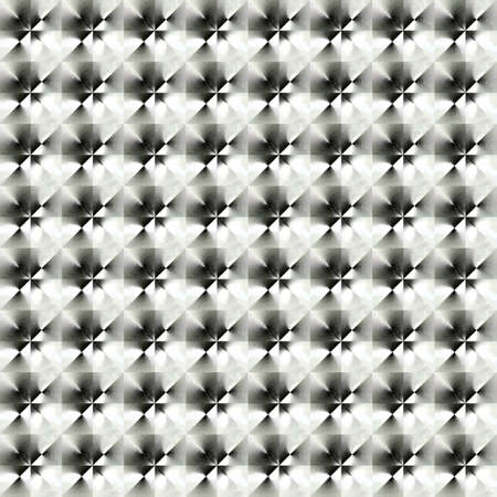 checked background: Abstract black and white plastic pattern.  Metallic checked texture background. Seamless illustration. Stock Photo