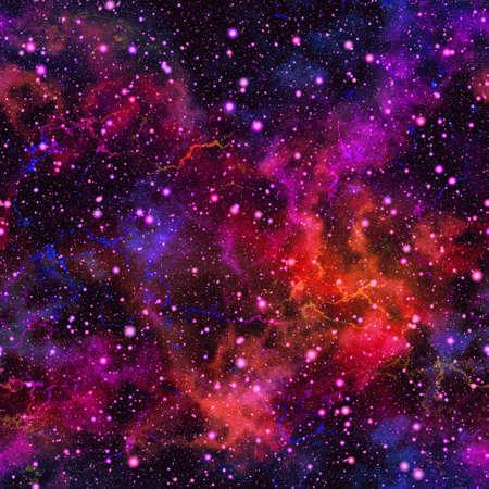 추상 다채로운 우주입니다. 성운 밤 별이 빛나는 하늘. 여러 가지 빛깔의 우주 공간. 빛나는 갤럭시 질감 배경. 원활한 그림입니다.