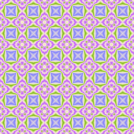 checked background: Abstract colorful floral tile pattern.  Multicolor checked texture background. Seamless illustration.