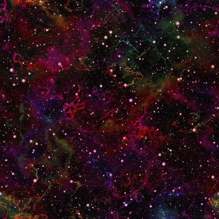 galactic: Abstract dark colorful universe. Shiny nebula night starry sky. Multicolor outer space. Glittering galactic texture background. Seamless illustration.