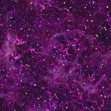추상 보라색 우주입니다. 반짝이 성운 밤 별이 총총 한 하늘. 보라색 우주 공간. 빛나는 갤럭시 질감 배경. 원활한 그림입니다. 스톡 콘텐츠