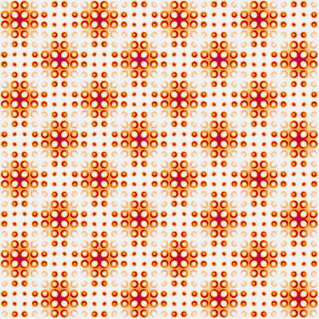 Abstract orange mosaic tile pattern. Brown and grey tiled texture background. Seamless illustration.