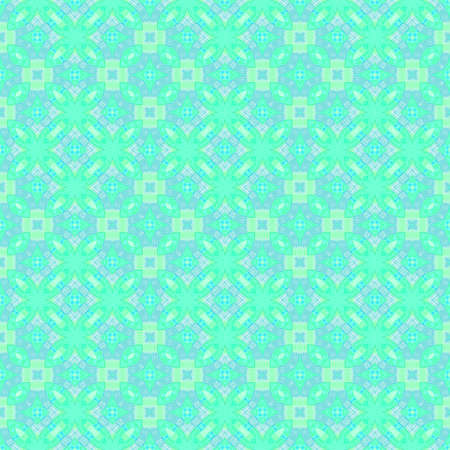 Abstract light cyan tile pattern. Bright turquoise tiled texture background. Seamless illustration.