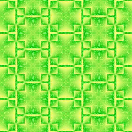 Abstract green and yellow pattern. Simple tile texture background. Seamless illustration.