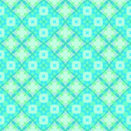 Abstract light cyan tile pattern, Bright turquoise tiled texture background, Seamless illustration Stock Photo