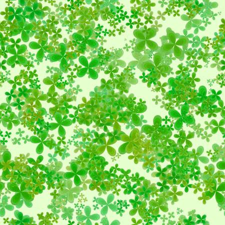 Patrón De Primavera Frondoso Abstracto, Hojas De Color Verde Sobre ...