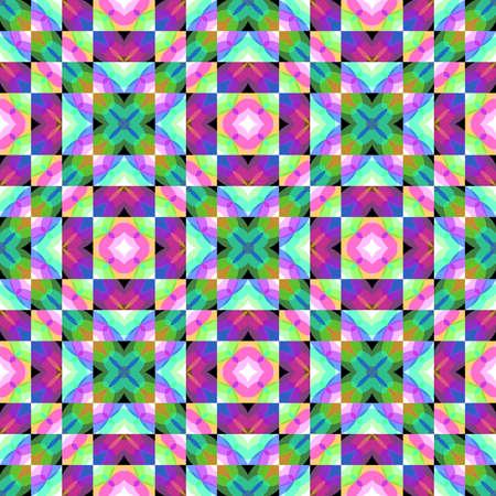 추상 다채로운 모자이크 타일 패턴, 여러 가지 빛깔의 기와 질감 배경, 원활한 체크 그림