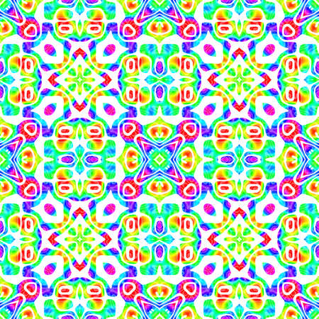 추상 다채로운 타일 패턴, 여러 가지 빛깔의 기와 질감 배경, 레인 보우 원활한 일러스트 레이 션 스톡 콘텐츠