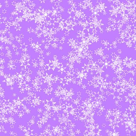 바이올렛 배경, 겨울 질감, 원활한 그림에 추상 빛 눈송이 패턴 스톡 콘텐츠