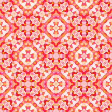 Abstract red floral pattern, Tile texture background, Seamless illustration
