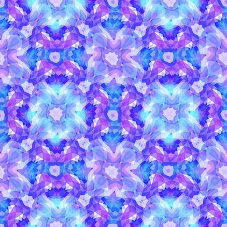 추상 블루 플로랄 패턴, 타일 텍스처 배경, 원활한 그림 스톡 콘텐츠