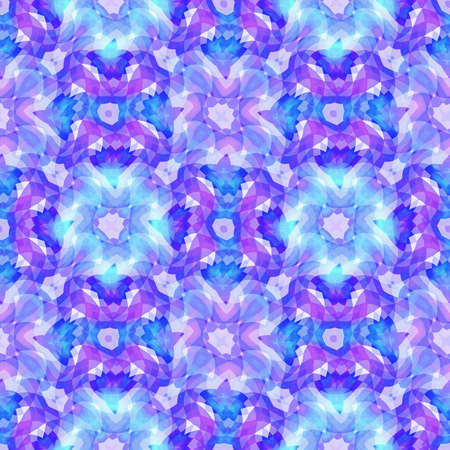 Abstract blue floral pattern, Tile texture background, Seamless illustration