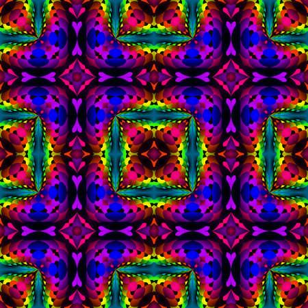 추상 어두운 다채로운 타일 패턴, 여러 가지 빛깔의 모자이크 타일 된 질감 배경, 무지개 색깔 원활한 그림