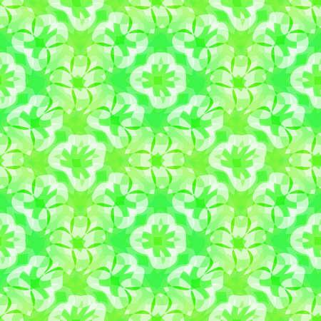 추상 녹색 꽃 패턴, 타일 질감 배경, 원활한 그림