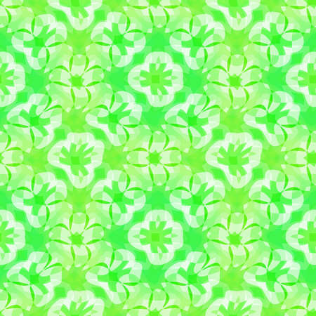 Abstract green floral pattern, Tile texture background, Seamless illustration