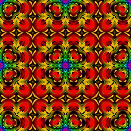 추상 어두운 다채로운 타일 패턴, 여러 가지 빛깔의 기와 질감 배경, 원활한 그림