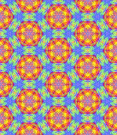 추상 화려한 꽃 패턴, 여러 가지 빛깔의 타일 질감 배경, 레인 보우 원활한 그림 색 스톡 콘텐츠