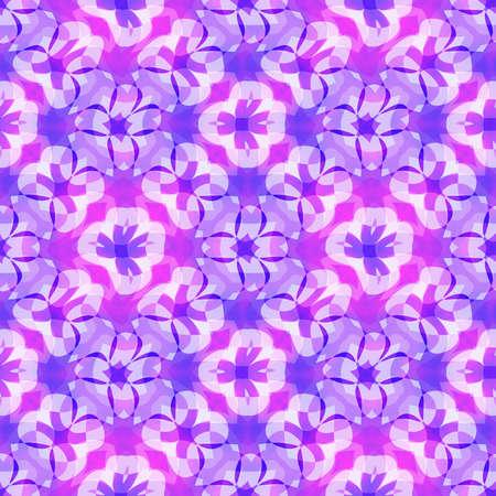 추상 보라색 플로랄 패턴, 보라색 타일 질감 배경, 원활한 그림 스톡 콘텐츠