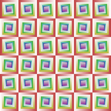 Abstract colorful tile pattern, Squares in rainbow colors, Multicolor tiled texture background, Seamless illustration, Geometric optical illusion 版權商用圖片