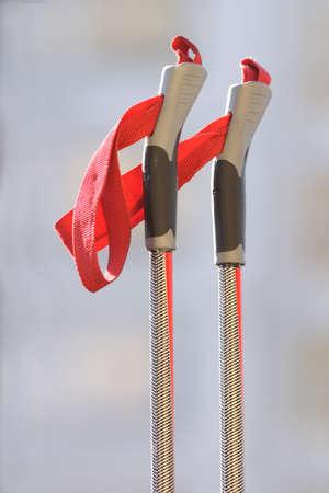fibra de vidrio: bastones de esqui de fibra de vidrio aislados  Foto de archivo