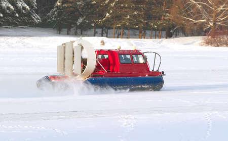 rescue service: Rescue Service snowmobile patrol on duty Stock Photo