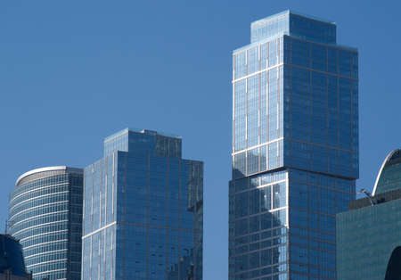 Moscow city modern office buildings over blue sky Stock Photo - 12704332