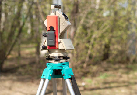 geodetic: Electronic total station on tripod