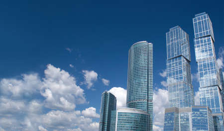 Moscow City Business centre buildings in Moscow Russia  Banco de Imagens