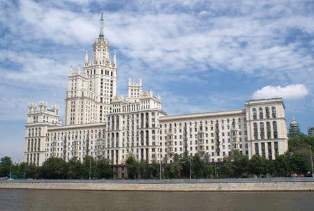 kotelnicheskaya embankment: Stalinist Residential house facade on Kotelnicheskaya embankment in Moscow Editorial