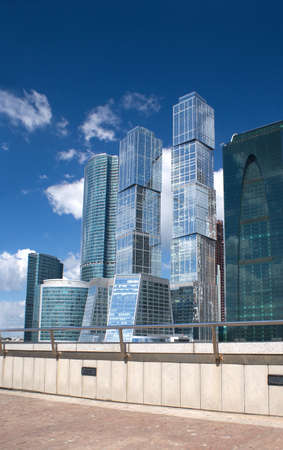 Moscow City Business Centre buildings in Moscow Russia