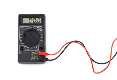 Ausgeschaltet Digital-Multimeter Mit Schwarzen Und Roten Drähte ...