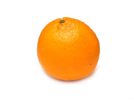 stilllife: Still-life with ripe orange isolated on white background top view horizontal closeup
