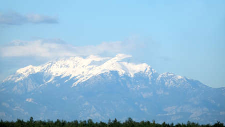 Impregnable Turkish mountains covered with snow
