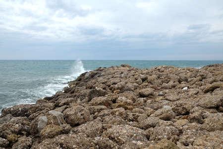 Seascape on overcast day Banco de Imagens