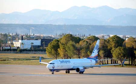Boeing-737-800 landed in Antalya international airport