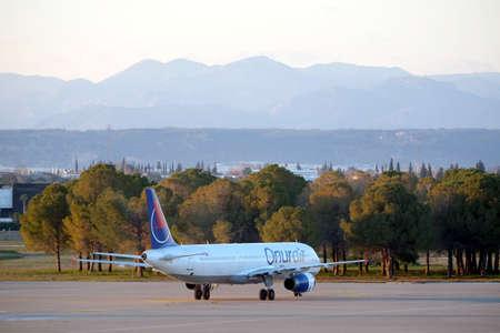 Airbus plane landed in Antalya International Airport