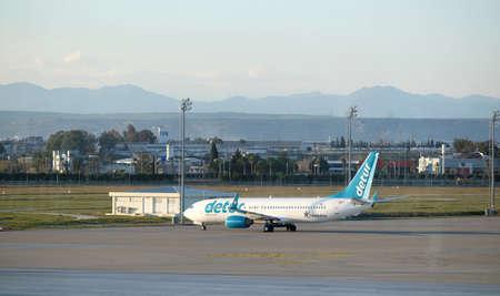 Boeing-737-800 landed in Antalya airport Editorial
