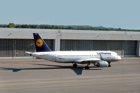 Airbus A320 landed in Munich international airport