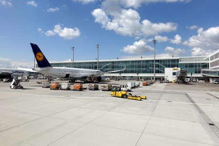 Airbus landed in Munich International airport