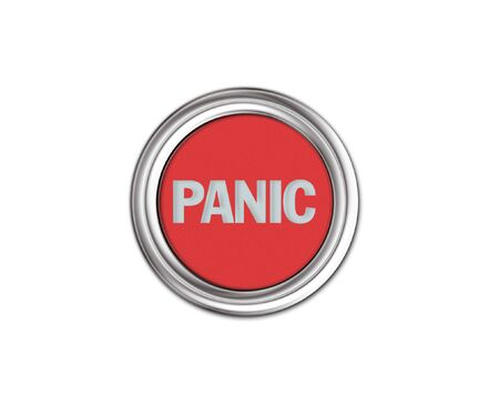 panic button: Acciaio pulsante Panic segno