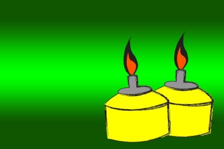 イスラム教徒の石油ランプ