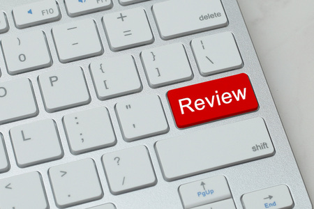 approval rate: review word on red button keyboard